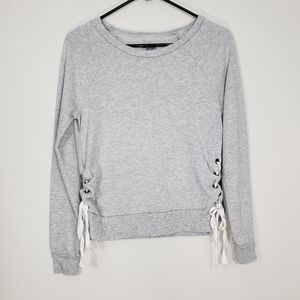 Aerie Lace up Sweater XS